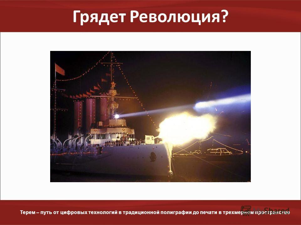 www.terem.ru Терем – путь от цифровых технологий в традиционной полиграфии до печати в трехмерном пространстве Грядет Революция?