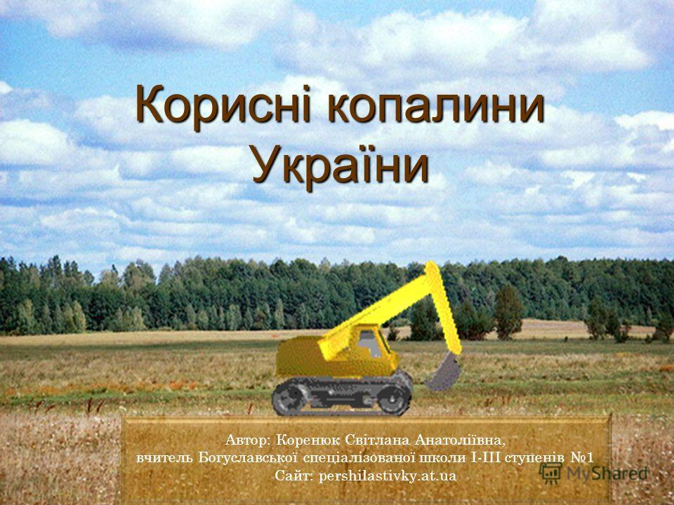 Корисні копалини України