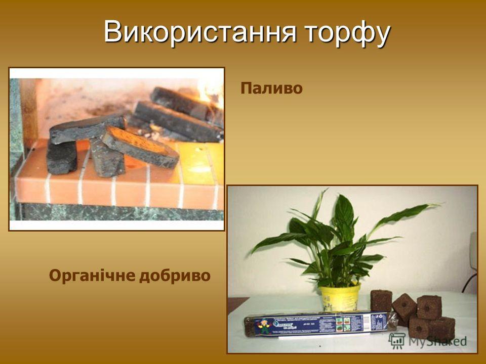 Використання торфу Паливо Органічне добриво