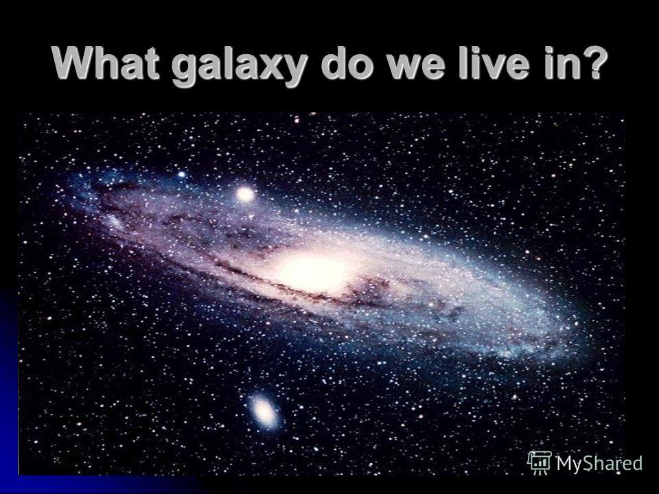 What galaxy do we live in?