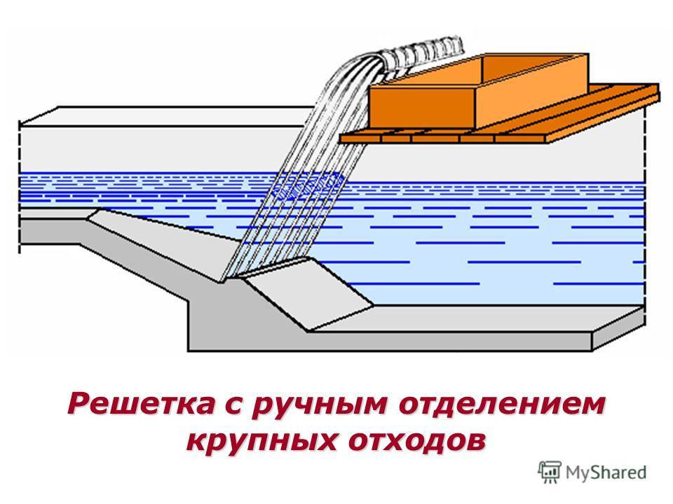 Решетка с ручным отделением крупных отходов