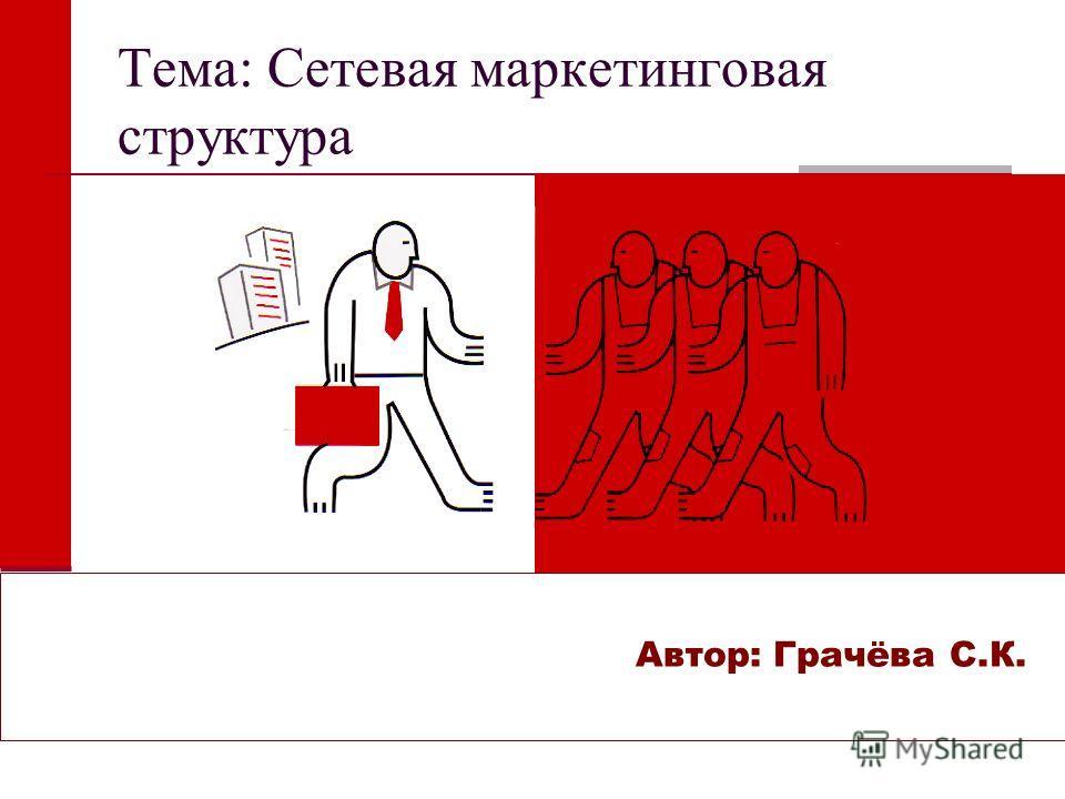 Тема: Сетевая маркетинговая структура Автор: Грачёва С.К.