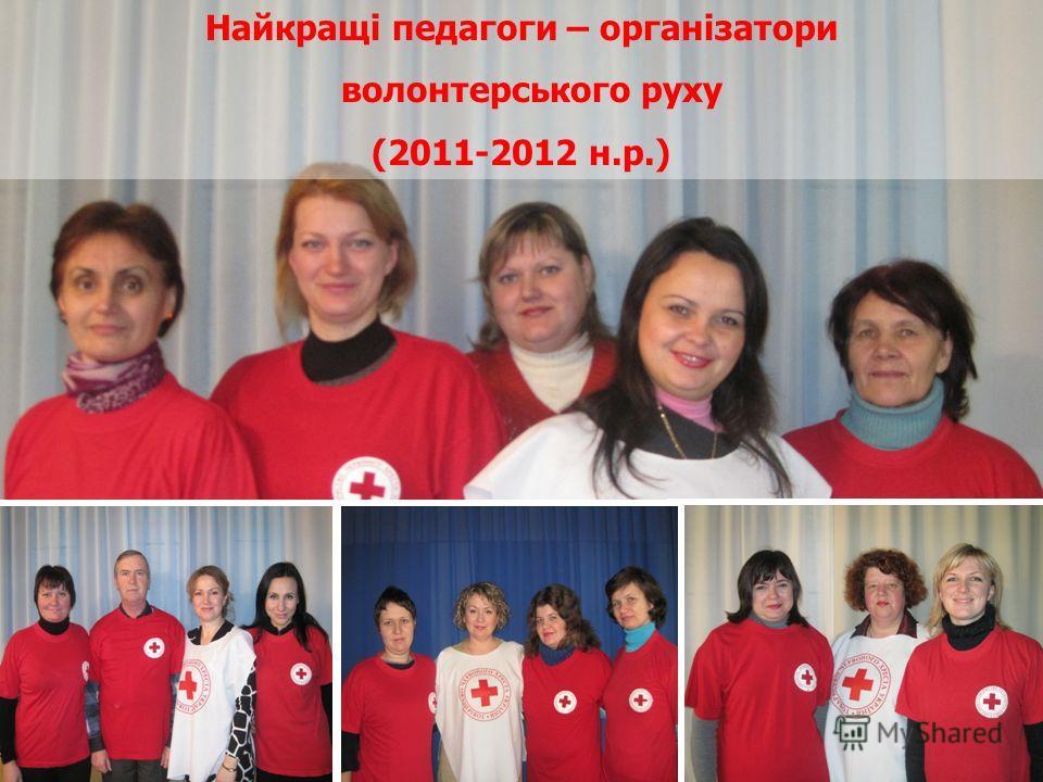 Найкращі педагоги – організатори волонтерського руху (2011-2012 н.р.)