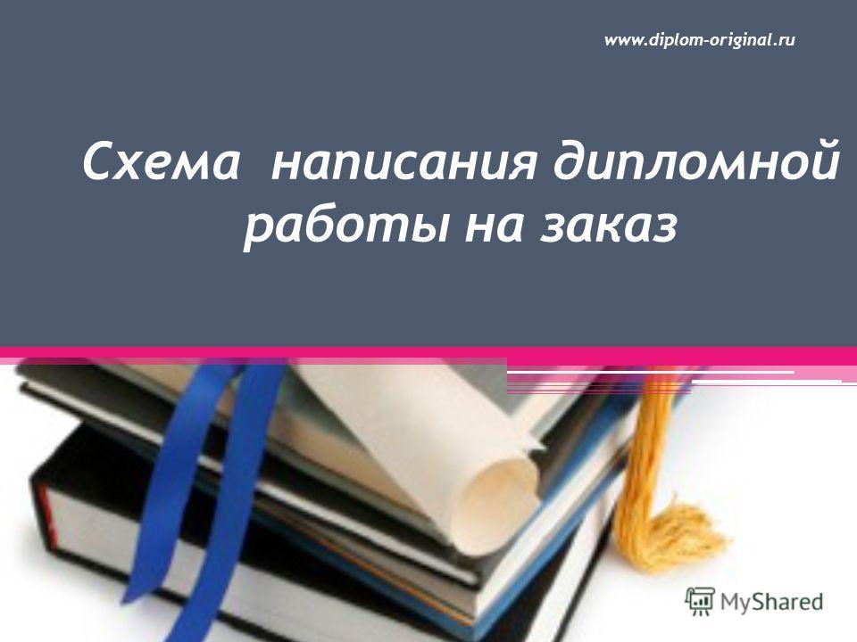 Схема написания дипломной работы на заказ www.diplom-original.ru
