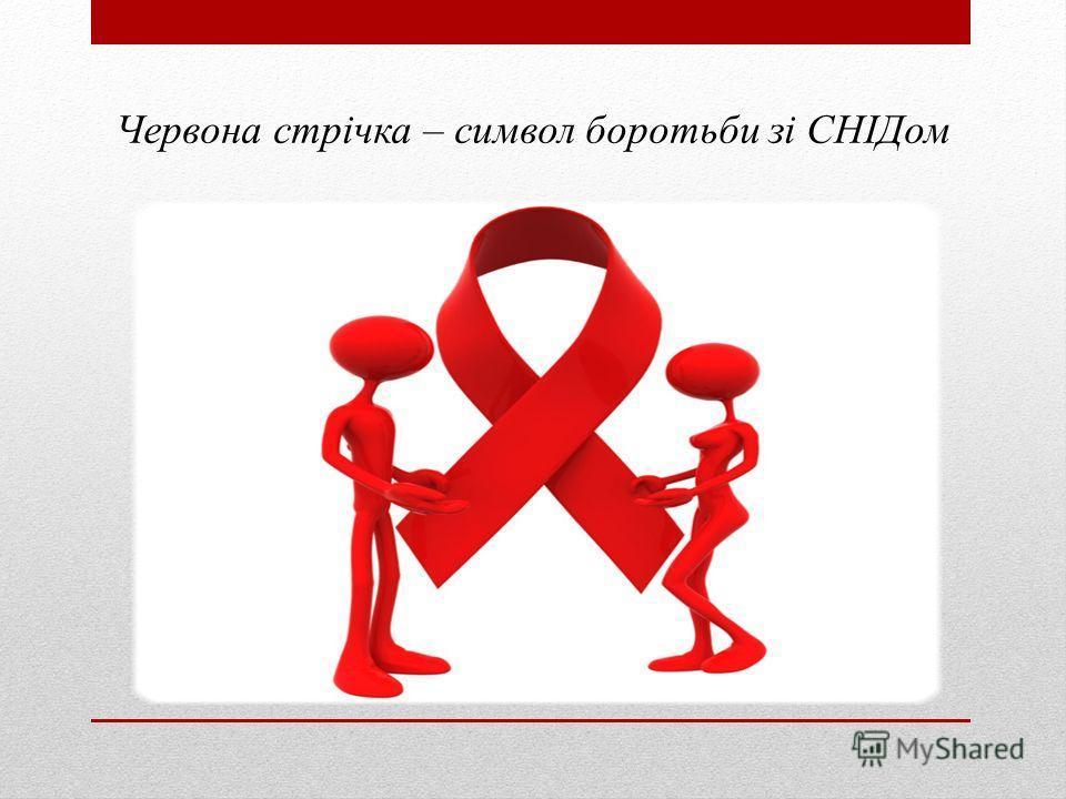 Червона стрічка – символ боротьби зі СНІДом