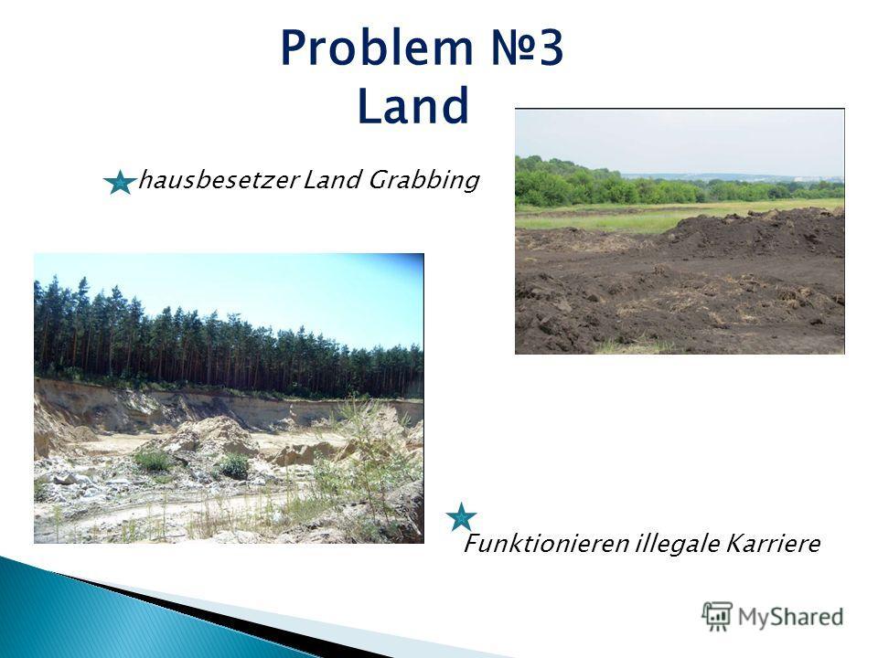 Problem 3 Land Funktionieren illegale Karriere hausbesetzer Land Grabbing