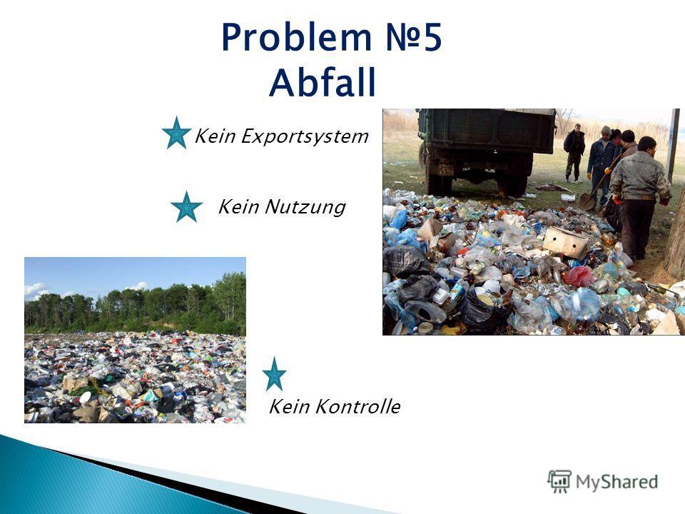 Problem 5 Abfall Kein Nutzung Kein Kontrolle Kein Exportsystem