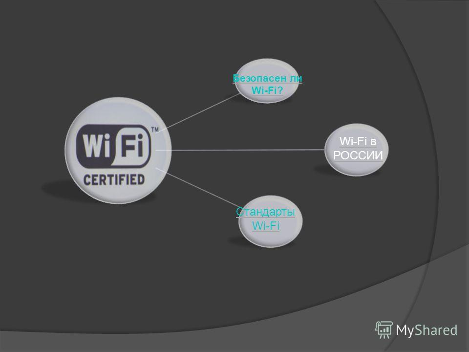 Безопасен ли Wi-Fi? Wi-Fi в РОССИИ Стандарты Wi-Fi