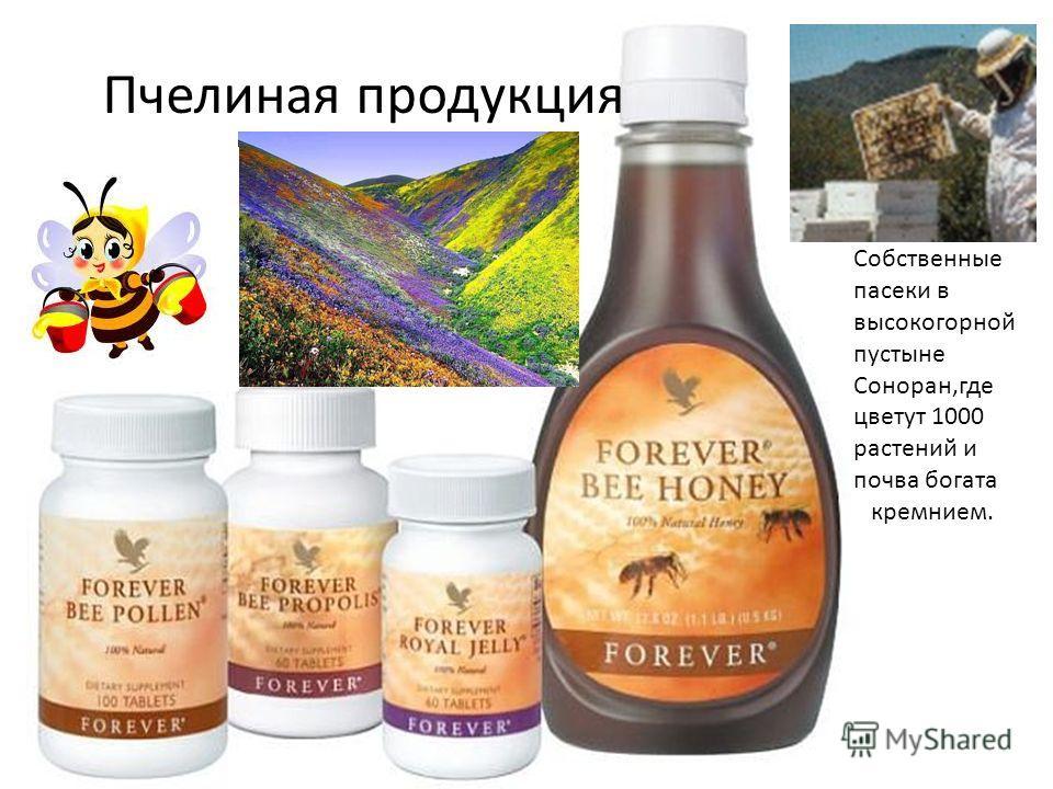Пчелиная продукция Собственные пасеки в высокогорной пустыне Соноран,где цветут 1000 растений и почва богата кремнием.