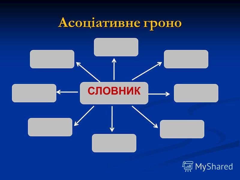 Асоціативне гродно СЛОВНИК