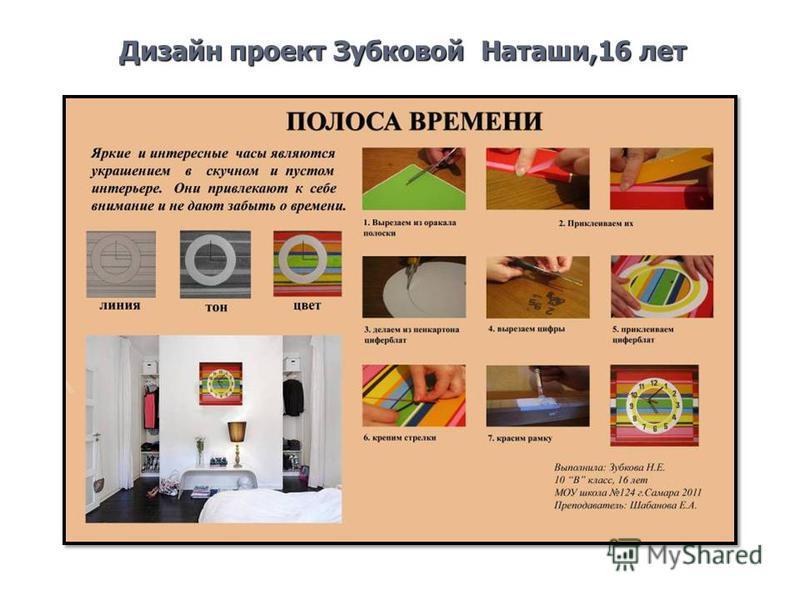 Дизайн проект Зубковой Наташи,16 лет