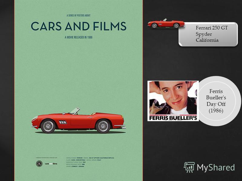 Ferrari 250 GT Spyder California Ferris Bueller's Day Off (1986)