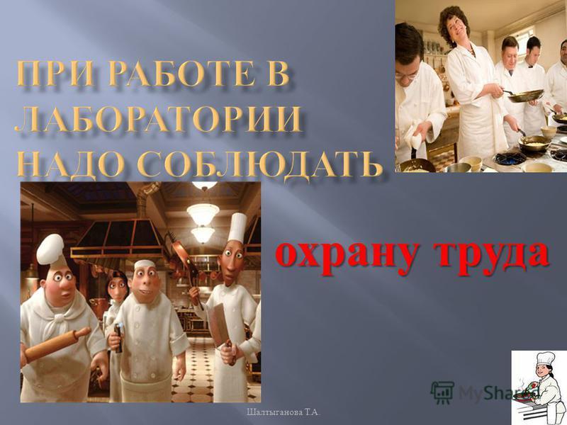 охрану труда Шалтыганова Т. А.