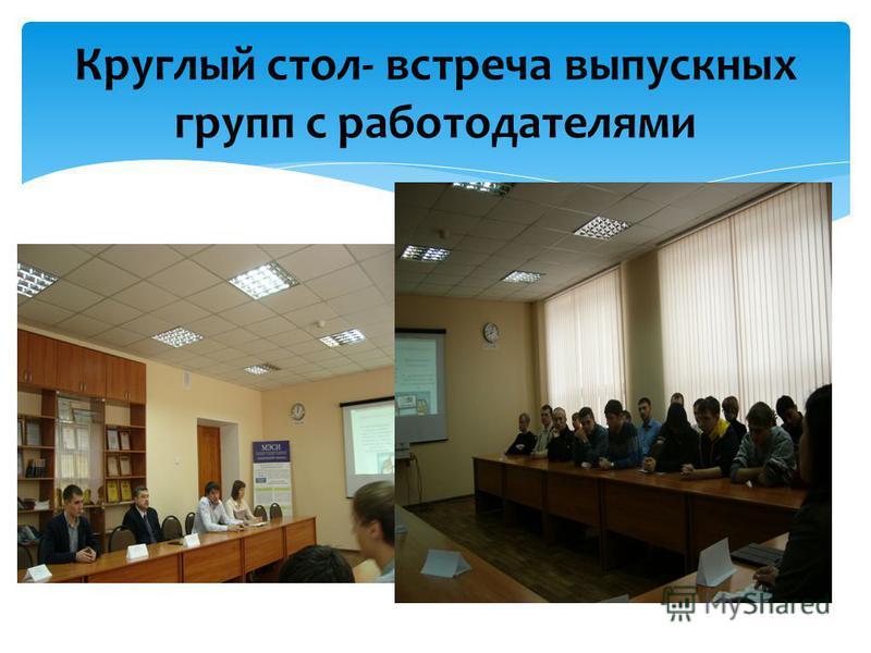 Круглый стол- встреча выпускных групп с работодателями