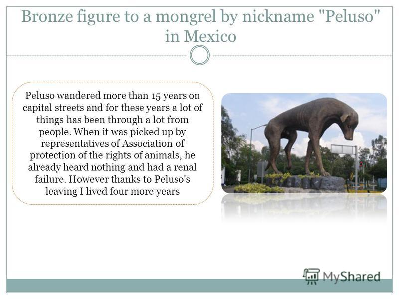 Bronze figure to a mongrel by nickname