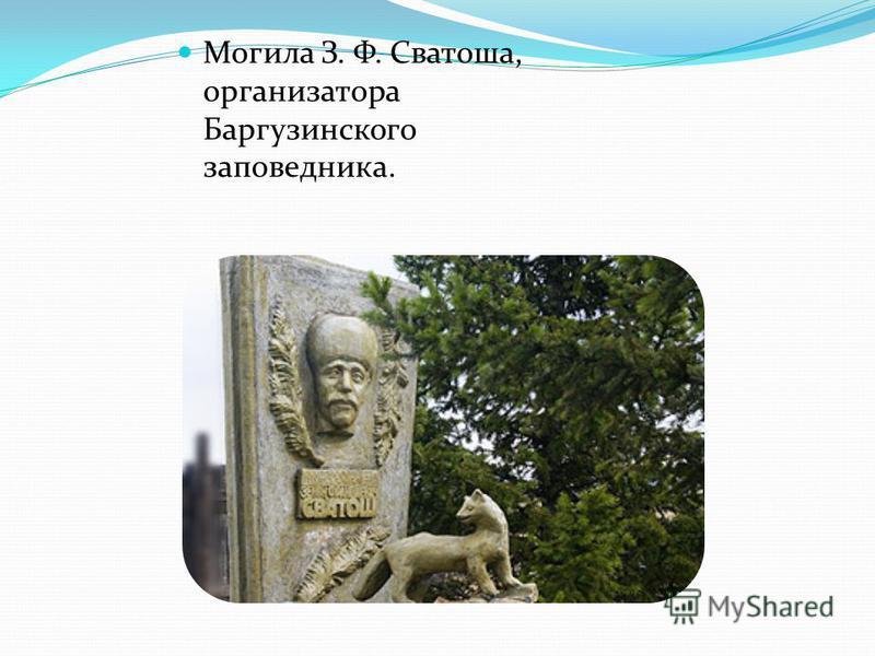 Могила З. Ф. Сватоша, организатора Баргузинского заповедника.