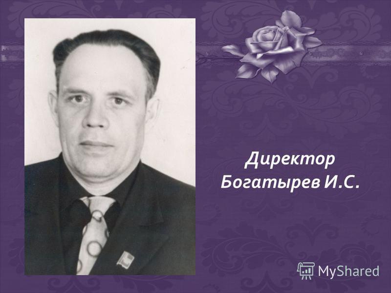 Директор Богатырев И.С.