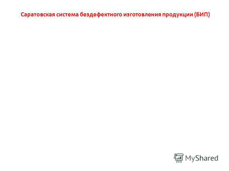 Саратовская система бездефектного изготовления продукции (БИП)