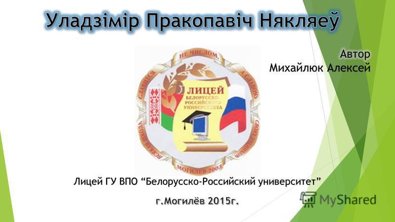 Лицей ГУ ВПО Белорусско-Российский университет