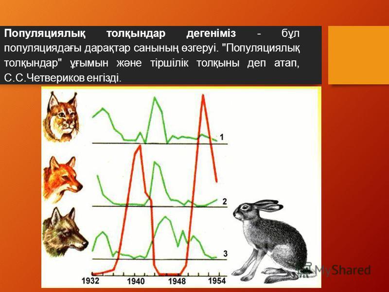 Популяциялық толқсындар денегіміз - бұл популяциядағы дарақтар санссының өзгеруі. Популяциялық толқсындар ұғымсын және тіршілік толқссыны деп этап, С.С.Четвериков енгізді.