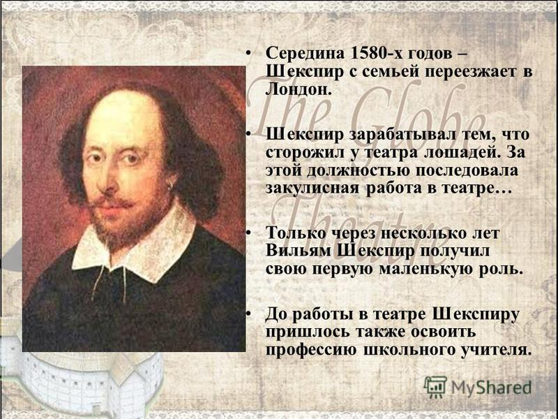 the experience and learning of william shakespeare in london Shakespeare learning zone elizabethan london when shakespeare so you may experience some difficulties using this website.