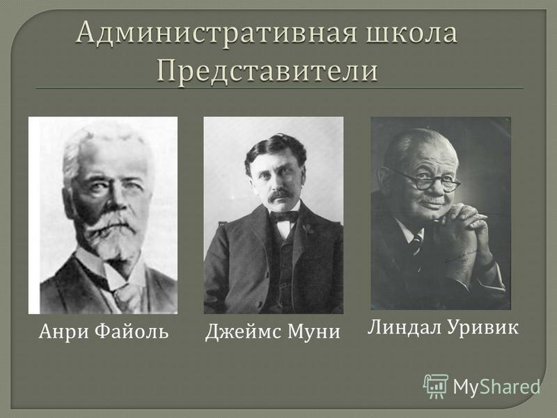 Анри Файоль Джеймс Муни Линдал Уривик