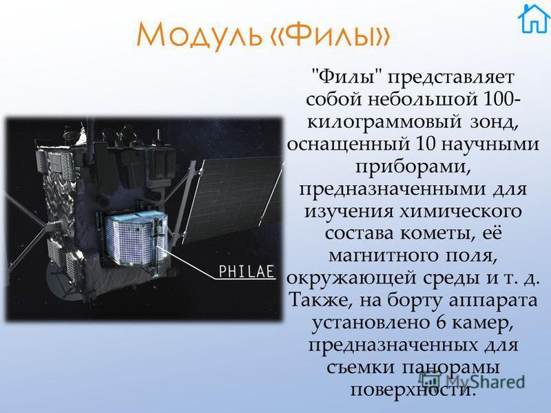 Модуль «Филы»