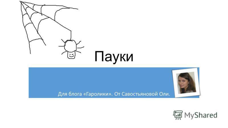 Пауки Для блога «Гаролики». От Савостьяновой Оли.