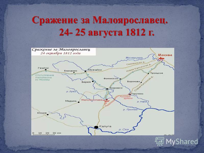Сражение за Малоярославец. 24- 25 августа 1812 г.
