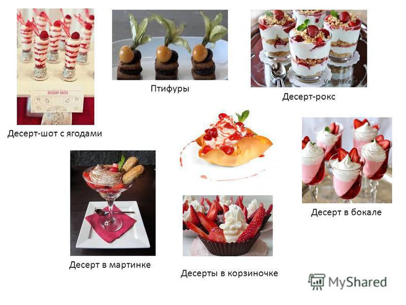 Десерт-шот с ягодами Птифуры Десерт-роус Десерт в бокале Десерт в картинке Десерты в корзиночке