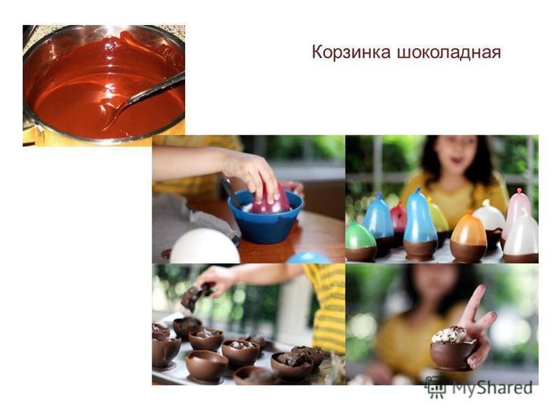 Корзинка шоколадная