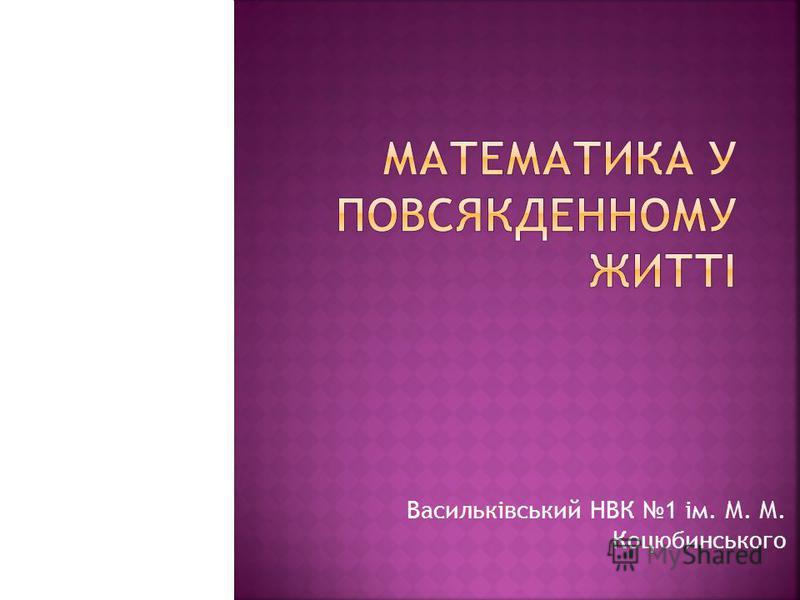 Васильківський НВК 1 ім. М. М. Коцюбинського