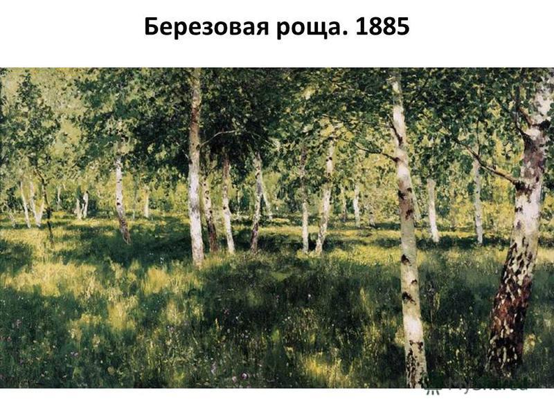 Березовая роща. 1885