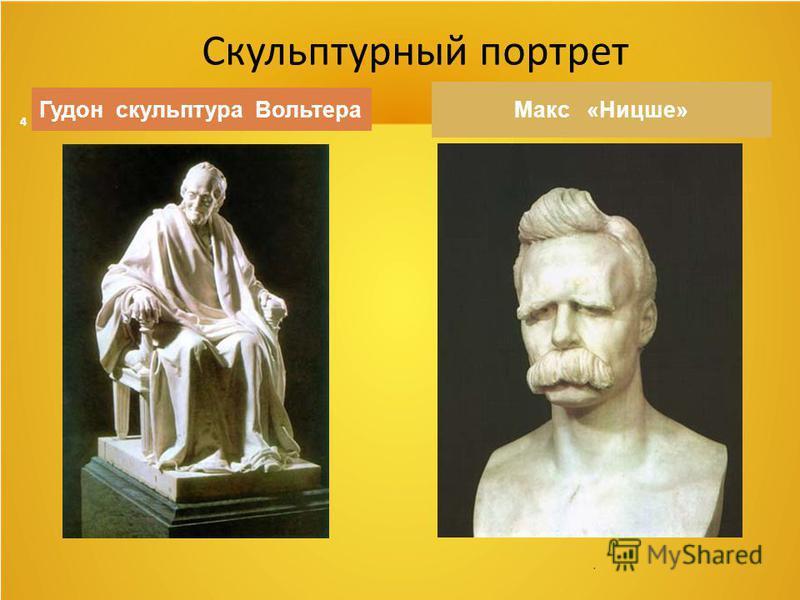 4. Гудон скульптура Вольтера Макс «Ницше» Скульптурный портрет
