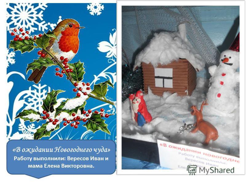 «В ожидании Новогоднего чуда» Работу выполнили: Вересов Иван и мама Елена Викторовна.