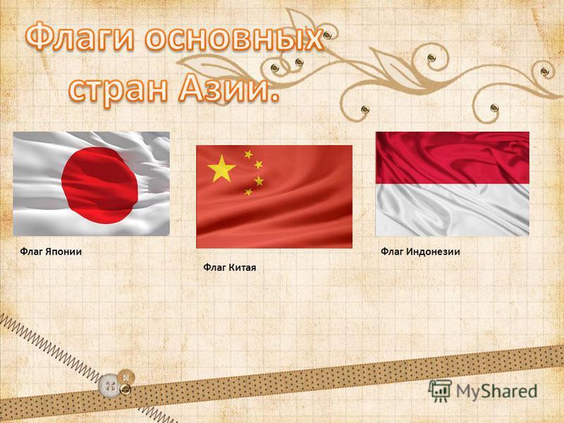 Флаг Китая Флаг Индонезии Флаг Японии