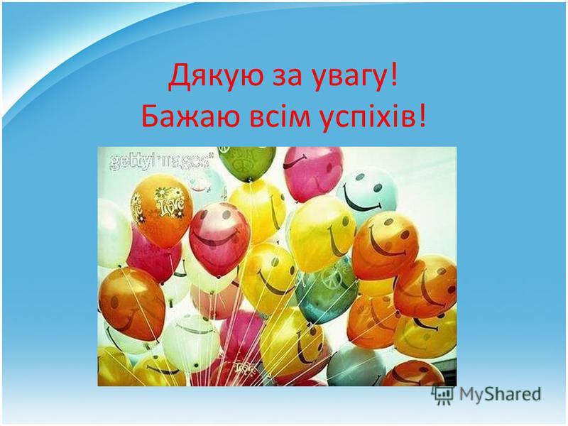 Дякую за увагу! Бажаю всім успіхів!