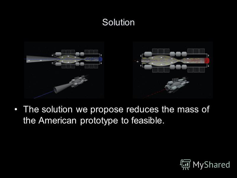 Solution The solution we propose reduces the mass of the American prototype to feasible.