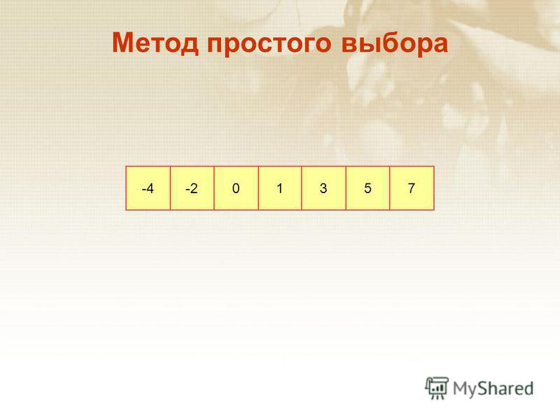 -4-201357 Метод простого выбора