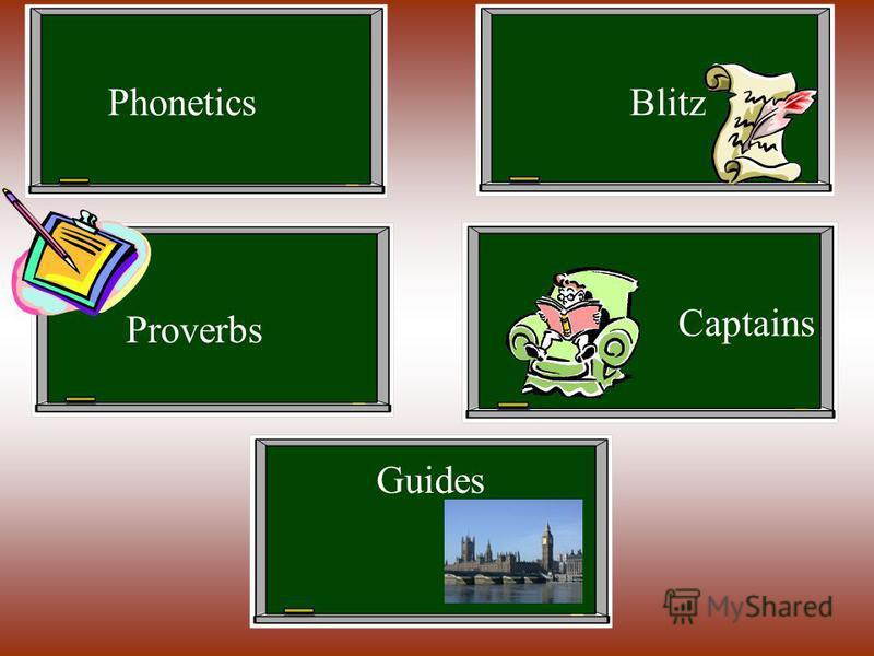 PhoneticsBlitz Guides Proverbs Captains