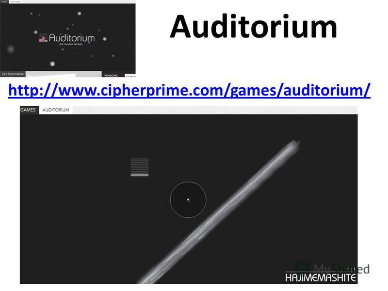 Auditorium http://www.cipherprime.com/games/auditorium/