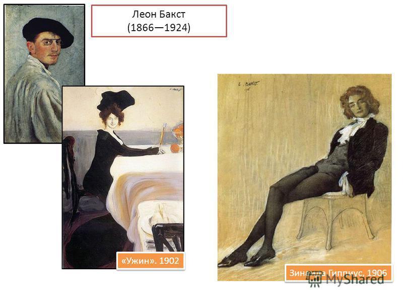 Леон Бакст (18661924) «Ужин». 1902 Зинаида Гиппиус, 1906