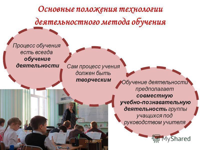 Основные положения технологии деятельностного метода обучения Процесс обучения есть всегда обучение деятельности Сам процесс учения должен быть творческим Обучение деятельности предполагает совместную учебно-познавательную деятельность группы учащихс