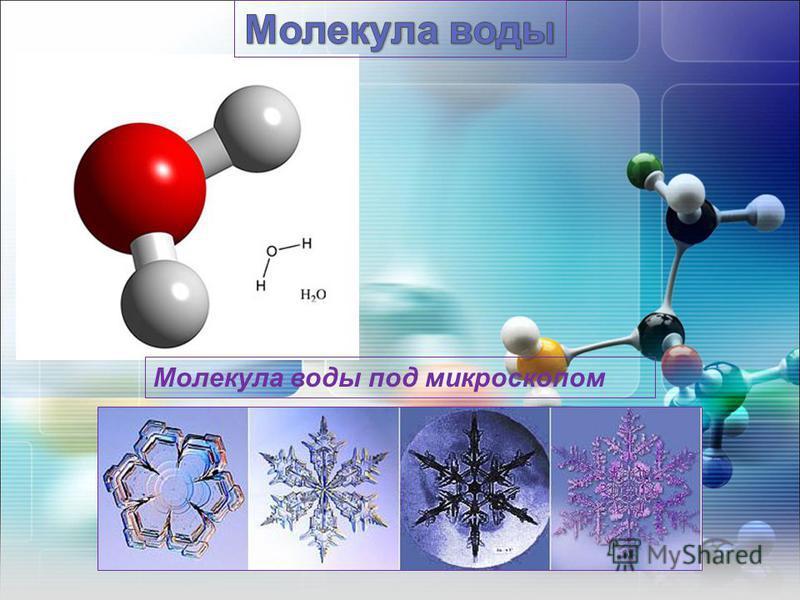 Молекула воды под микроскопом