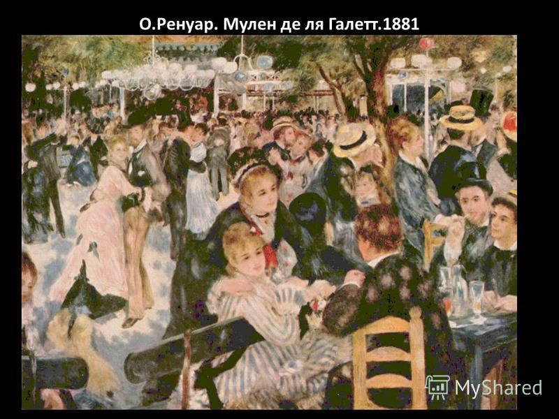 О.Ренуар. Мулен де ля Галетт.1881
