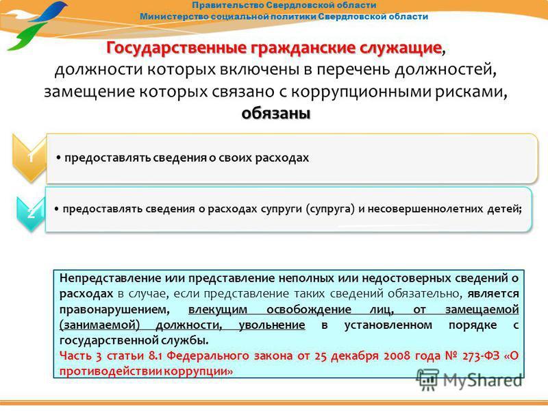 Правительство Свердловской области Министерство социальной политики Свердловской области Государственные гражданские служащие Государственные гражданские служащие, должности которых включены в перечень должностей, замещение которых связано с коррупци