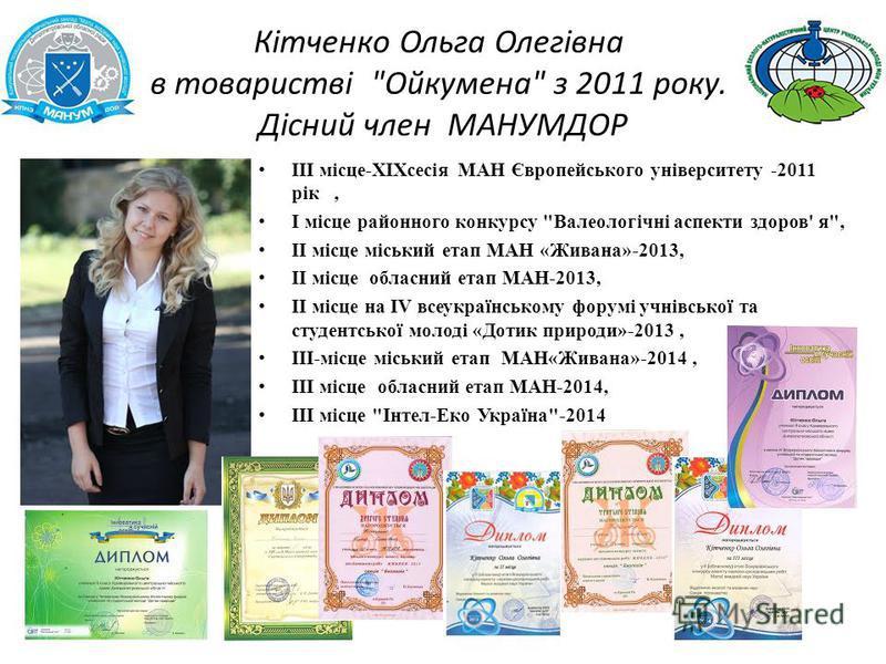 Кітченко Ольга Олегівна в товаристві