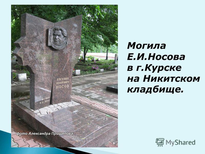 Могила Е.И.Носова в г.Курске на Никитском кладбище.