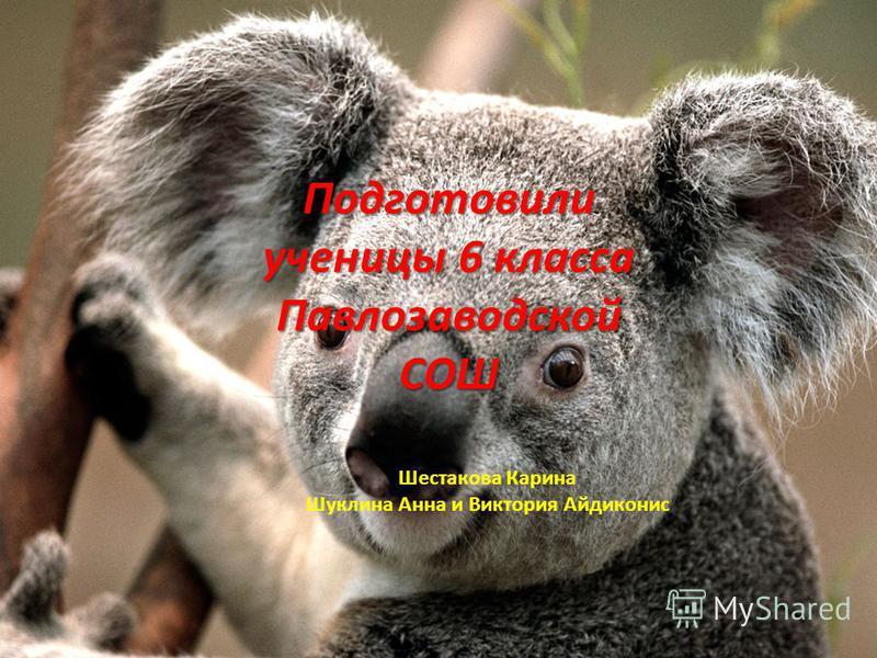 Подготовили ученицы 6 класса Павлозаводской СОШ Шестакова Карина Шуклина Анна и Виктория Айдиконис