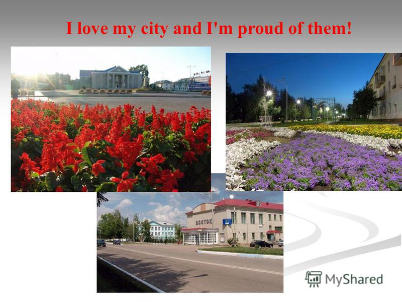 I love my city and I'm proud of them!